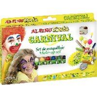 ALPINO Set Maquillaje Fiesta Básico 6 ud Colores surtido  Pincel y purpurina DL000008, (1 u.)