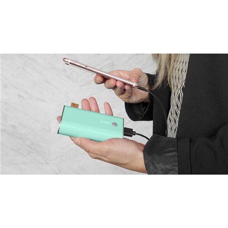 FRESH 'N REBEL Powerbank 6000 mAh Peppermint, batería recargable verde pastel 2PB2000PT, (1 u.)