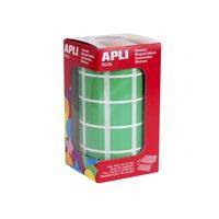 APLI Gomets 20 mm Cuadrados Verdes 4878, (1 u.)