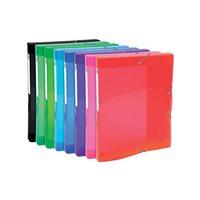 EXACOMPTA Carp.proyecto lomo ancho 25mm p.p.,para A4, colores brillantes 8 colores surtidos 59670E, (1 u.)