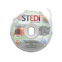 ST3DI Cartucho de filamento plateado Pla 750g ST-6013-00, (1 u.)