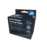 AF Pack 50 toallitas húmedas limpiadoras para gafas de seguridad ASGCS50, (1 u.)