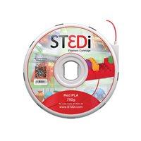 ST3DI Cartucho de filamento rojo Pla 750g ST-6001-00, (1 u.)