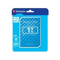 VERBATIM Disco duro portátil USB 3.0 Store 'n' Go GEN2 1TB 2,5'' azul 53200, (1 u.)