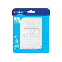 VERBATIM Disco duro portátil USB 3.0 Store 'n' Go GEN2 1TB 2,5'' blanco 53206, (1 u.)