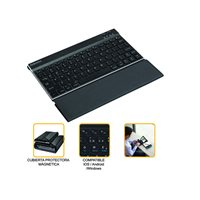 FELLOWES Teclado inalámbrico MobilePro integrado en estuche negro 8204101, (1 u.)