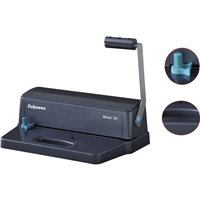FELLOWES Encuadernadora Metal 25 Manual A4-380x250x140mm Perforación 10hojas 3302502, (1 u.)