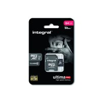 INTEGRAL Tarjeta de memoria micro SDHC UltimaPro de 16 GB con adaptador SD clase 10 INMSDH16G10-90U1, (1 u.)