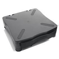 5 STAR Soporte para monitor con cajón negro 369D, (1 u.)