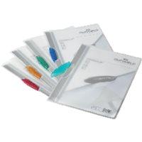 DURABLE Dossiers clip Swingclip translucido Capacidad 30 hojas A4Azul claro Polipropileno 2260-14, (25 u.)