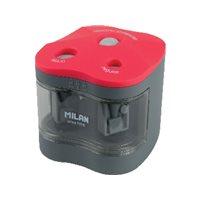 MILAN Afilalapiz Power Sharp Electrico Doble Colores surtidos 7x6,5 cm BWM10278, (1 u.)