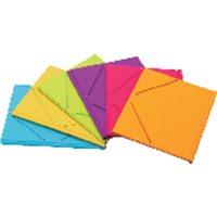 IBERPLAS Carpeta Gomas Funcolor 3 solapas Folio Colores surtidos PVC 343FC90, (18 u.)