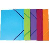 5* Carpeta Gomas Con solapa Colores surtidos translucidos Polipropileno UNP012, (25 u.)