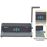 FELLOWES Encuadernadora Metal 50 Manual A4-385x250x130mm Perforación 12 hojas 3005001, (1 u.)