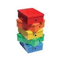 ELBACajas almacenamientoELBA colorline, colores surtidos 130x276x365 mm 100725626, (5 u.)
