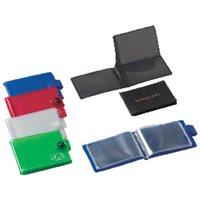 IBERPLAS Portatarjetas 100X70 Con velcro PVC Colores surtidos 1069FL99, (16 u.)