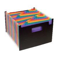 VIQUEL Organizador Rainbow Class 24 compartimentos 325x230 Negro + colores Horizontal 11098703, (1 u.)