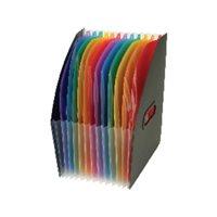 VIQUEL Organizador Rainbow Class 12 compartimentos 255x320 Negro + colores Vertical 11118705, (1 u.)