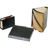 CARCHIVO Carpeta acordeon 20 compartimentos A-Z y 1-31 Folio Negro 199406, (1 u.)