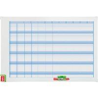 NOBO Planning Magnetico Anual 60x90cm Con borrador/rotlador/kit 3048001, (1 u.)