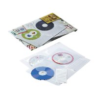 PARDO Pack de 5 fundas para CD/DVD 4 CDs por funda y con 4 taladros en formato A4  2184, (1 u.)
