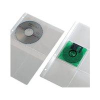 IBERPLAS Pack de 15 fundas para CD/DVD 4 CDs por funda y con 4 taladros en formato A4  4754CDR, (15 u.)