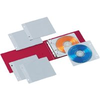 IBERPLAS Archivador 2 anillas CD/DVD colores surtidos 10 fundas 521FL, (4 u.)