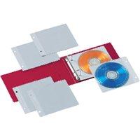 IBERPLAS Archivador 2 anillas CD/DVD colores surtidos 10 fundas 521FL, (4 u.)