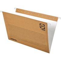 GIO Carpeta colgante 240 x 315 mm Cristal Kraft Bicolor Visor superior 80 mm 400021947, (1 u.)