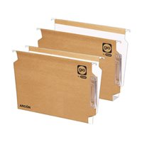 GIO Carpeta colgante Arcon 25ud 274 x 335mm Kraft bicolor Visor lateral de 140mm  Con lupa 400021926, (1 u.)