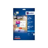AVERY Tarjeta visita caja 80ud/10hojas 85x54mm Inkjet glossy Acabado imprenta borde liso C32028-10, (1 u.)