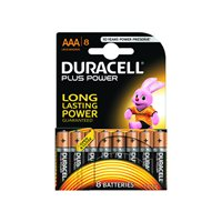 DURACELL Pilas Alcalinas  Plus Power Pack 8 ud AAA LR03 394018549, (1 u.)