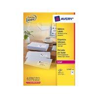 AVERY Etiquetas laser QuickPeel Caja 100 hojas 2100 ud 63,5x38 L7160-100, (1 u.)