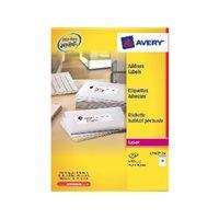 AVERY Etiquetas laser QuickPEEL Caja 100 hojas 1400ud 99,1x38,1 L7163-100, (1 u.)