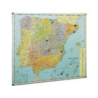 PLANNING SISPLAMO Mapa España 103X129 Magnetico Plastificado  Marco Alumnio 153, (1 u.)