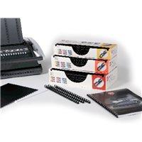 GBC Canutillos Procomb 100ud Negro lomo 8mm Plastico 4400321, (1 u.)