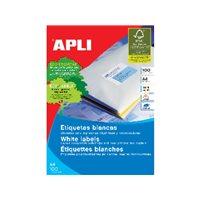 APLI Etiquetas ILC Caja 100 hojas 800 ud 97 X 67.7  Blancas 1291, (1 u.)