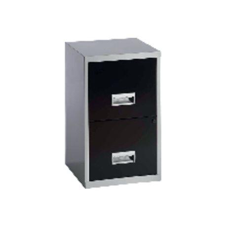 PIERRE HENRY Muebles de archivo 2 cajones Negro Metalico Cerradura 095439, (1 u.)
