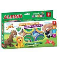 ALPINO Pasta blanda Magic Dough 8 ud 14 gr  Ligera que seca al aire DP000137, (1 u.)