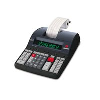 OLIVETTI Calculadora sobremesa impresion LOGOS 902 12 digitos Pantalla LCD B5895000, (1 u.)