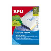 APLI Etiquetas ILC Caja 100 hojas 1600 u 105 x 35 Blancas 1287, (1 u.)