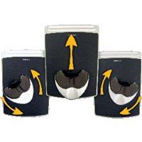 FELLOWES Reposamuñecas para ratón Easy Glide con canal ergonómico Health-V negro 9373003, (1 u.)