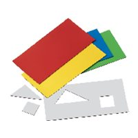 FAIBO Láminas Imantadas 5 Ud 100x200x0,7mm Colores varios 148741, (1 u.)