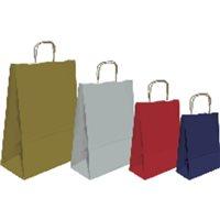 SNMA Bolsa papel Kraft Paquete 25 Ud 32x40x14 90 Gr Rojo ref.02003016, (1 u.)