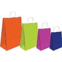 SNMA Bolsa papel Kraft Paquete 25 Ud 32x40x14 90 Gr Fucsia ref.02004015, (1 u.)