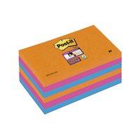 POST-IT Notas adhesivas Super Sticky  Pack 6 blocs 90h Colores eléctricos 76x127mm 70005253300, (1 u.)