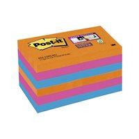 POST-IT Notas adhesivas Super Sticky  Pack 12 blocs 90h Colores eléctricos 51x51mm 70005252104, (1 u.)