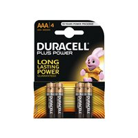 DURACELL Pilas Alcalinas Plus Power Pack 4 u AAA LR03 Plus Power 394018457, (1 u.)