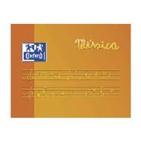 OXFORD Bloc Musica A5 Apaisado 10 hojas 4 mm pentagrama 100104854, (20 u.)