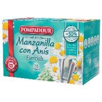 POMPADOUR Infusiones Sabores clásicos Manzanilla con anís Pack 20 ud Bolsas 40207, (1 u.)